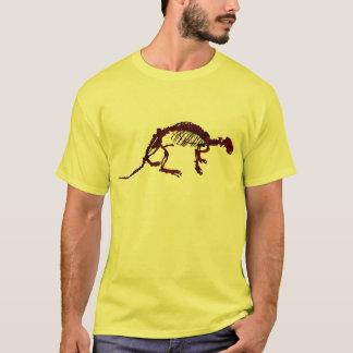 ブラウンの川カワウソの骨組Tシャツ Tシャツ