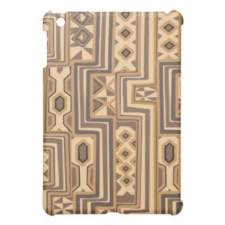 ブラウンの抽象的なアフリカの芸術 iPad MINIカバー