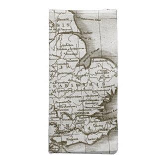 ブラウンの旧世界の旧式な地図のナプキンは(4)を置きました ナプキンクロス