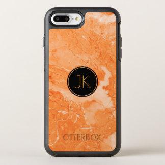 ブラウンの柔らかい大理石の石造りのプリント オッターボックスシンメトリーiPhone 8 PLUS/7 PLUSケース