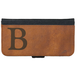 ブラウンの模造のな革質 iPhone 6/6S ウォレットケース