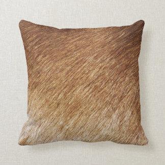ブラウンの毛皮の質の写真の写真撮影の枕クッション クッション
