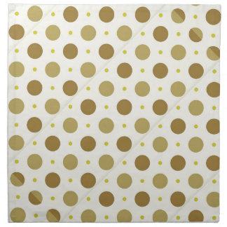 ブラウンの水玉模様のレトロのデザインの布のナプキン ナプキンクロス
