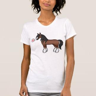 ブラウンの漫画のジプシーのVannerの諸州のClydesdale愛 Tシャツ