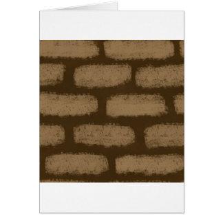 ブラウンの煉瓦パターン カード