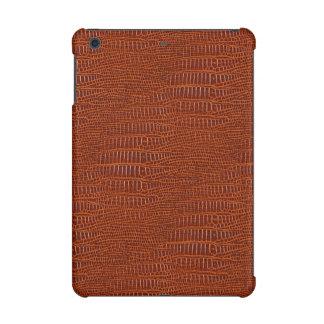 ブラウンの現実的なわに皮の一見 iPad MINI RETINAケース