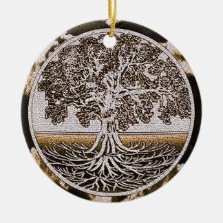 ブラウンの生命の円生命の樹 セラミックオーナメント