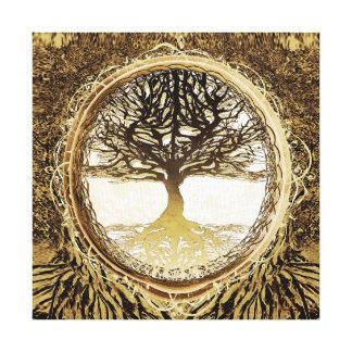 ブラウンの生命の樹 キャンバスプリント