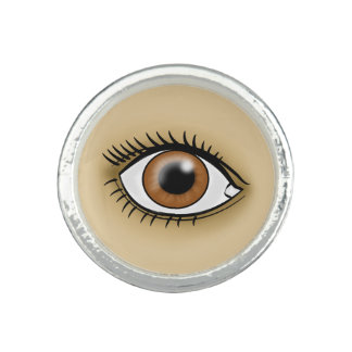ブラウンの目アイコン 指輪