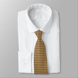 ブラウンの組合せのダイヤモンドパターン ネクタイ