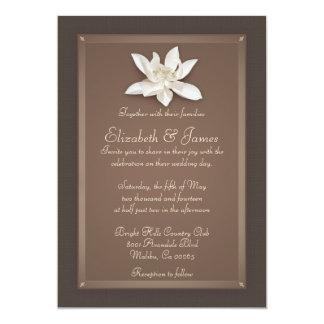 ブラウンの結婚式招待状 12.7 X 17.8 インビテーションカード