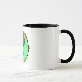ブラウンの緑の風に吹かれた陰陽 マグカップ