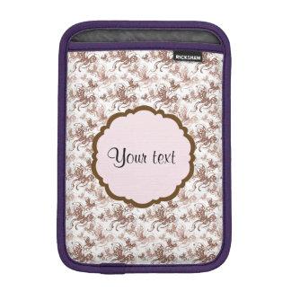 ブラウンの美しい渦巻形のな蝶 iPad MINIスリーブ