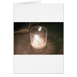 ブラウンの背景幕が付いている非常に熱い茶ライト蝋燭 カード