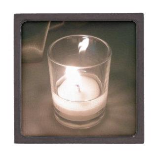 ブラウンの背景幕が付いている非常に熱い茶ライト蝋燭 ギフトボックス