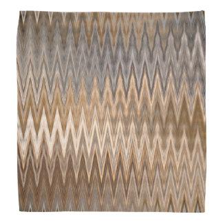 ブラウンの自然な波状パターン バンダナ