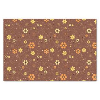 ブラウンの花柄 薄葉紙
