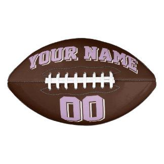 ブラウンの薄紫および白くカスタムなフットボール アメリカンフットボール