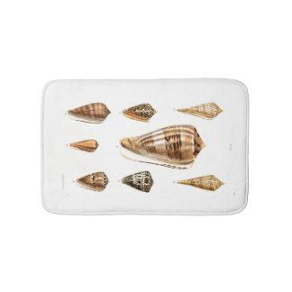 ブラウンの貝殻のコレクション バスマット