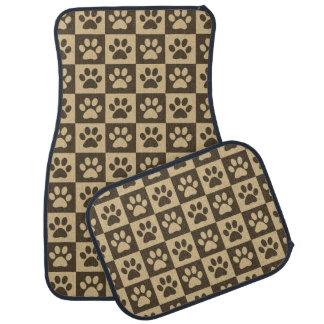 ブラウンの足はパターンを印刷します カーマット