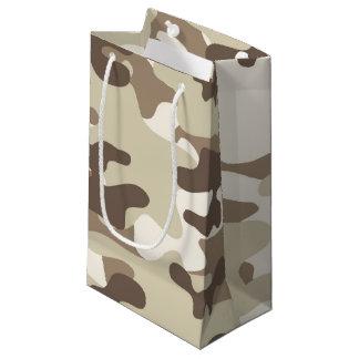 ブラウンの迷彩柄のデザイン スモールペーパーバッグ