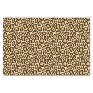 ブラウンの金ジャガーの野生のアニマルプリントパターン 薄葉紙