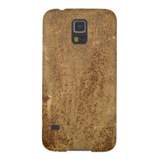 ブラウンの金属のSamsungの錆ついた銀河系S5、やっとそこに Galaxy S5 ケース