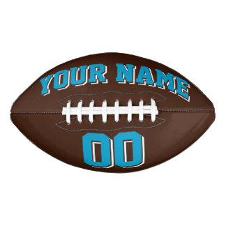 ブラウンの青および白くカスタムなフットボール アメリカンフットボール