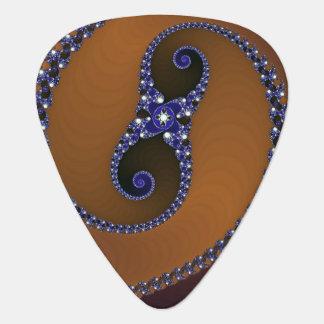 ブラウンの青の抽象芸術の渦巻 ギターピック