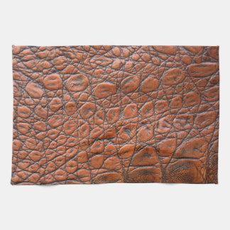 ブラウンの革皮の質 キッチンタオル
