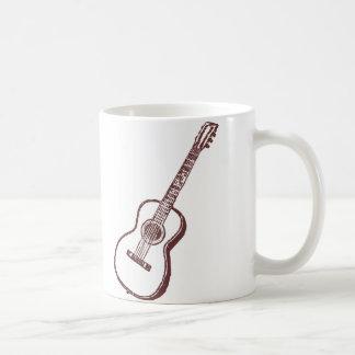 ブラウンの音響のクラシカルなギター コーヒーマグカップ