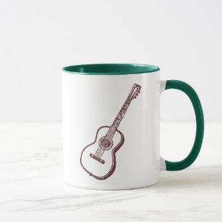 ブラウンの音響のクラシカルなギター マグカップ