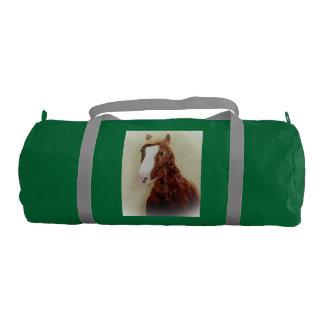 ブラウンの馬の芸術 ジムバッグ