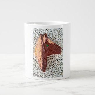 ブラウンの馬のjjheleneの切り出しのクッキーのジャンボマグ ジャンボコーヒーマグカップ