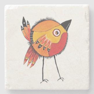 ブラウンの鳥のコースター ストーンコースター