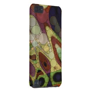 ブラウンの黄色緑の抽象芸術 iPod TOUCH 5G ケース