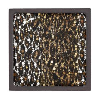 ブラウンの黒いチータの抽象芸術 ギフトボックス