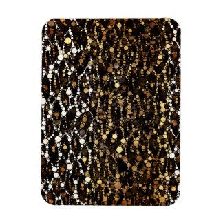 ブラウンの黒いチータの抽象芸術 マグネット