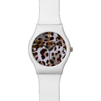 ブラウンの黒い灰色の抽象芸術のチータ 腕時計
