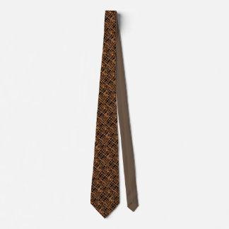 ブラウンの黒によって編まれるネクタイ カスタムネクタイ