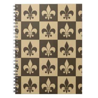 ブラウンの(紋章の)フラ・ダ・リ ノートブック