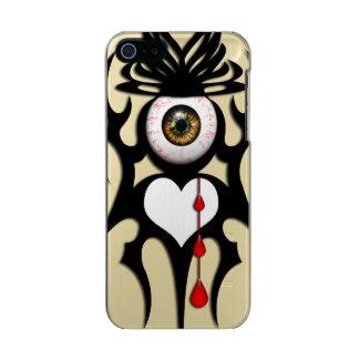 ブラウンのbloodshot眼球、種族の記号 メタリックiPhone SE/5/5sケース