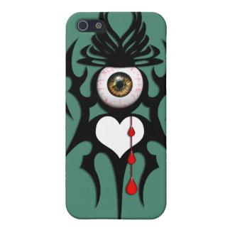 ブラウンのbloodshot眼球、種族の記号 iPhone SE/5/5sケース