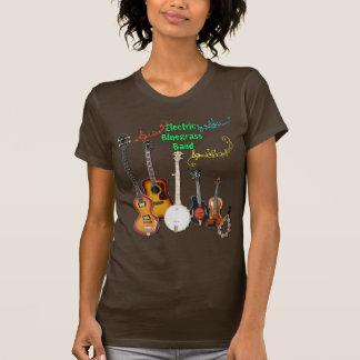 ブラウンのBluegrassバンドワイシャツ Tシャツ