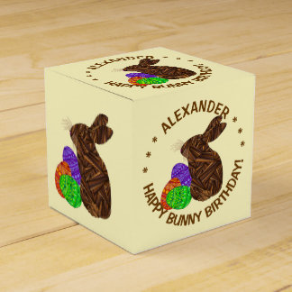 ブラウンイースターのウサギのイースターテーマの誕生会 フェイバーボックス