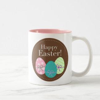 ブラウンイースターエッグのハッピーイースター ツートーンマグカップ