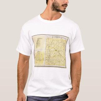 ブラウンズヴィルの自由が付いているユニオン郡の地図 Tシャツ