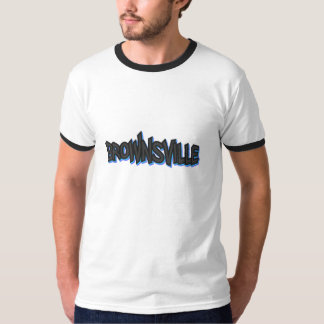 ブラウンズヴィルの落書きの信号器のTシャツ、白または黒 Tシャツ