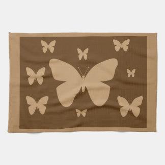 ブラウンタンの蝶タオル キッチンタオル