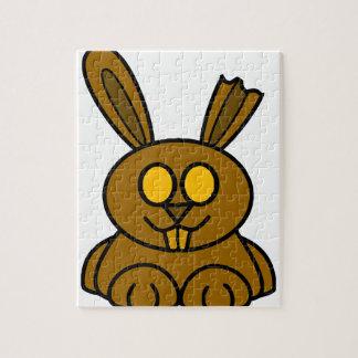 ブラウンチョコレートバニー ジグソーパズル